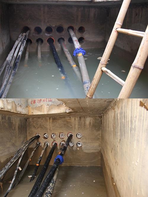 地下管道漏水_电缆进户套管防水封堵材料